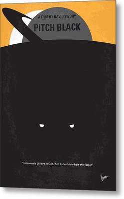 No409 My Pitch Black Minimal Movie Poster Metal Print by Chungkong Art