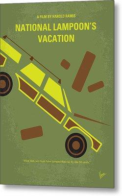 No412 My National Lampoons Vacation Minimal Movie Poster Metal Print by Chungkong Art