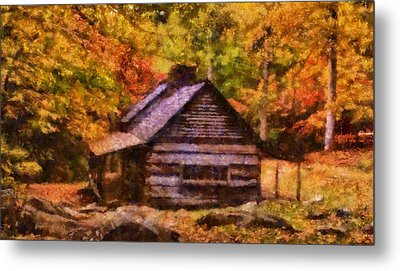 Noah Ogle Barn In Autumn Metal Print