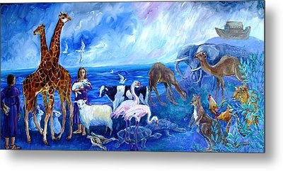 Noahs Ark - After The Flood  Metal Print by Trudi Doyle
