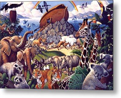 Noah's Ark Metal Print by Mia Tavonatti