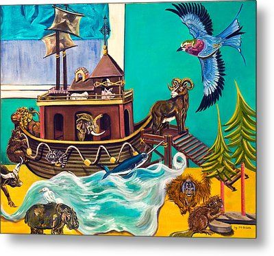 Metal Print featuring the painting Noah's Ark Second Voyage by Susan Culver