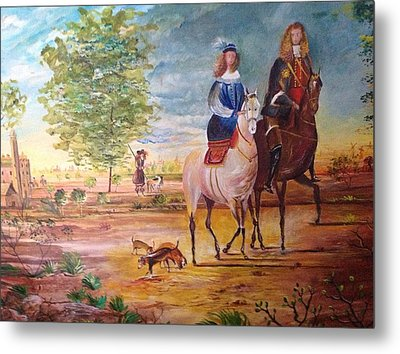 Nobel  Knight And Lady Metal Print