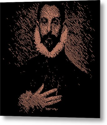 Noble Man With His Hand On His Chest Metal Print by Chris Lopez