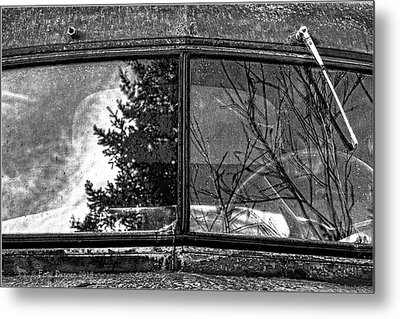 Nobody's Truck Windshield Metal Print