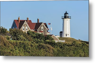 Nobska Lighthouse Woods Hole Cape Cod Ma Metal Print by Marianne Campolongo