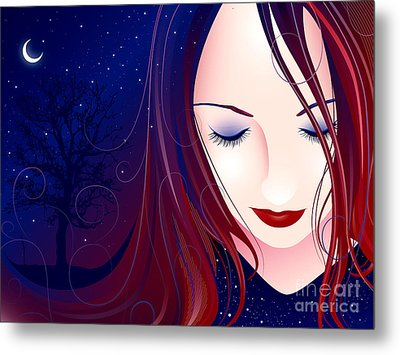 Nocturn II Metal Print by Sandra Hoefer