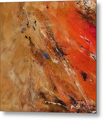 Noise Of The True Feelings - Abstract Metal Print