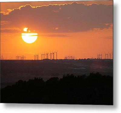 Nolan County Sunset Metal Print by Miriam Tiritilli