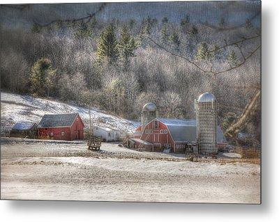 Nolan Farm - Vermont Farm Metal Print by Joann Vitali