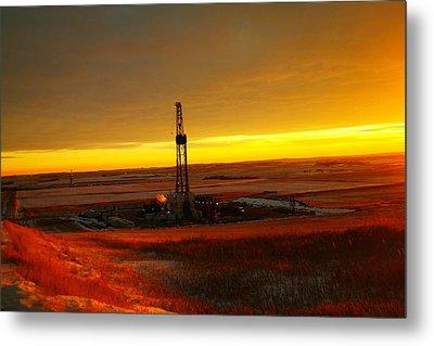 Nomac Drilling Keene North Dakota Metal Print by Jeff Swan