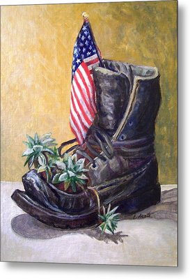 Non-combat Boot Metal Print by Laura Aceto