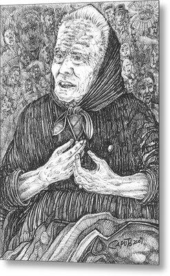 Forenza Vita Nonna Filomena - Famiglia Mia Metal Print