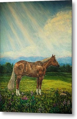 Noon Day Repose Metal Print by Sharon Avery