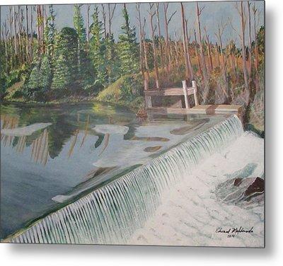 Nora Mill Waterfall Metal Print