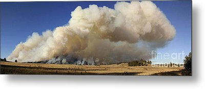 Norbeck Prescribed Fire Smoke Column Metal Print by Bill Gabbert