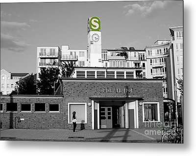 Metal Print featuring the photograph Nordbahnhof Station In Berlin by Art Photography