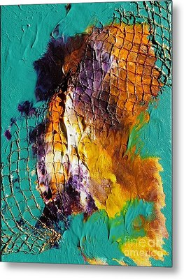 Metal Print featuring the painting Nordic Abstract by Susanne Baumann