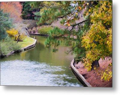 Norfolk Botanical Gardens Canal 7 Metal Print by Lanjee Chee
