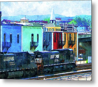 Norfolk Southern 8324 And 8676 Locomotives Metal Print