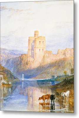 Norham Castle An Illustration To Marmion By Sir Walter Scott Metal Print by Joseph Mallord William Turner
