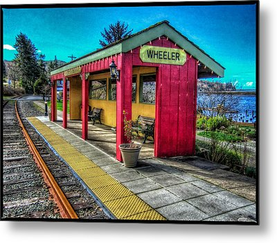 Metal Print featuring the photograph Norm Laknes Train Station by Thom Zehrfeld