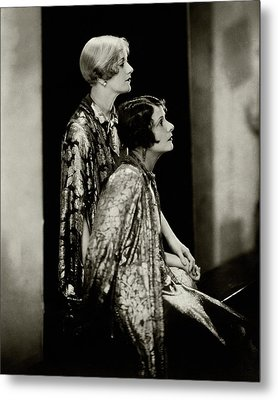 Norma And Constance Talmadge Metal Print by Edward Steichen