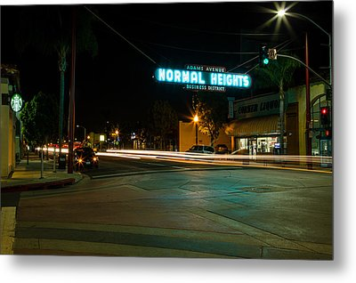 Normal Heights Neon Metal Print by John Daly