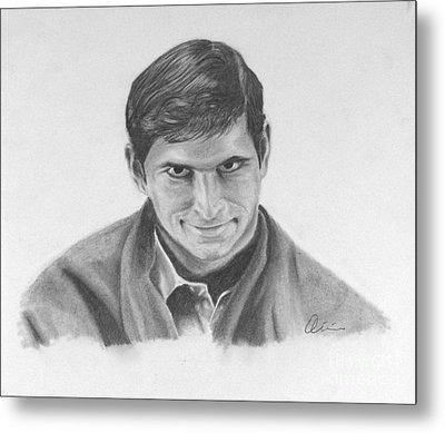 Norman Bates Portrait Metal Print by M Oliveira