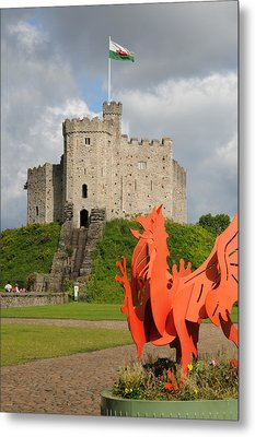 Norman Keep Cardiff Castle Metal Print by Jeremy Voisey
