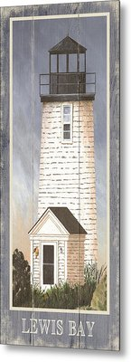 North American Lighthouses - Lewis Bay Metal Print by Gail Fraser