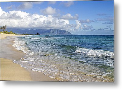 North Beach Kaneohe 7 Watermarked Metal Print