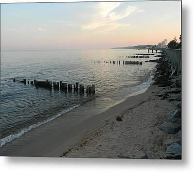 Metal Print featuring the photograph North Beach Sunset by Emmy Marie Vickers