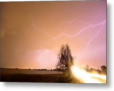 North Boulder County Colorado Lightning Strike Metal Print by James BO  Insogna