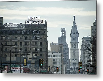 North Broad Street Metal Print
