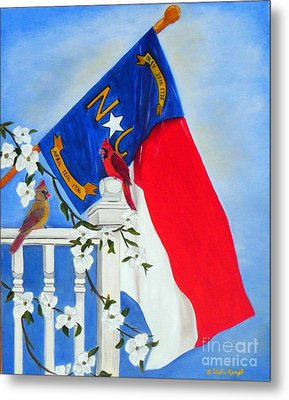 Metal Print featuring the painting North Carolina - A State Of Art by Shelia Kempf