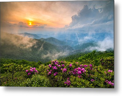 North Carolina Blue Ridge Parkway Spring Appalachian Mountains Nc Metal Print