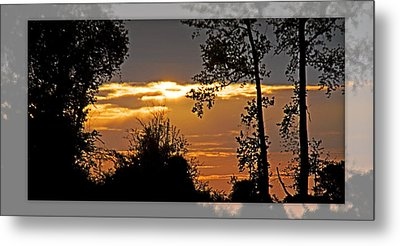 North Carolina Sunset Metal Print by Walter Herrit
