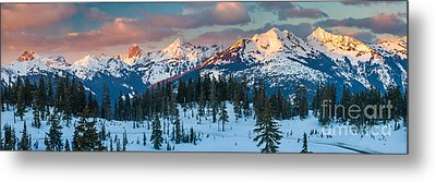 North Cascades Winter Panorama Metal Print