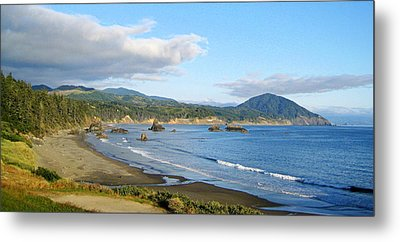 North Coast Metal Print by AJ  Schibig