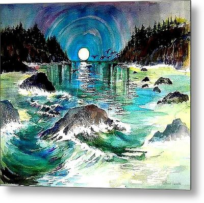 North Coast Sea Metal Print