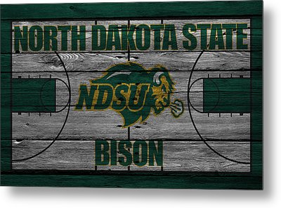 North Dakota State Bison Metal Print