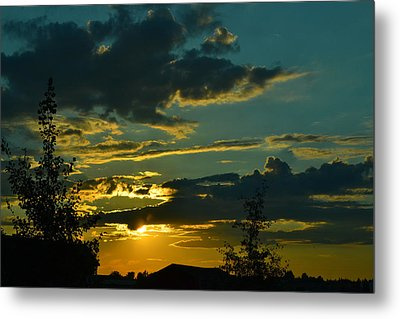 North Dakota Sunset Metal Print