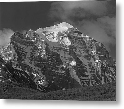 203553-north Face Mt. Temple Bw Metal Print