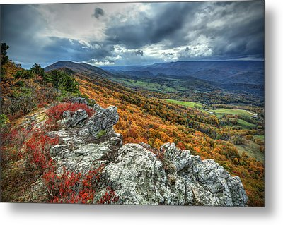 North Fork Mountain Overlook Metal Print