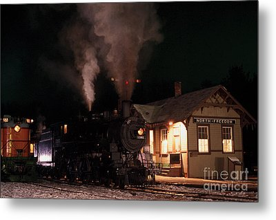 North Freedom Wisconsin Steam Train Metal Print by Clare VanderVeen