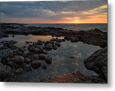 Metal Print featuring the photograph Big Island - North Kona Beach by Francesco Emanuele Carucci