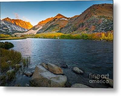 North Lake Metal Print by Peter Dang