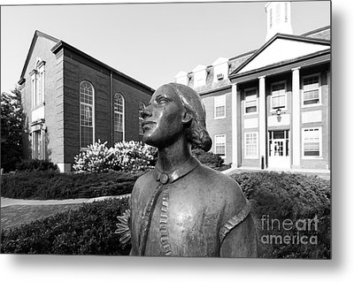 North Park College Nyvall Hall Sculpture Metal Print by University Icons