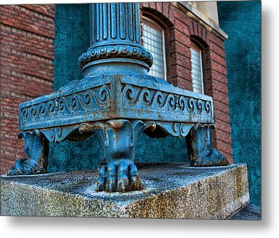 North Platte Post Office Lamp Post Metal Print